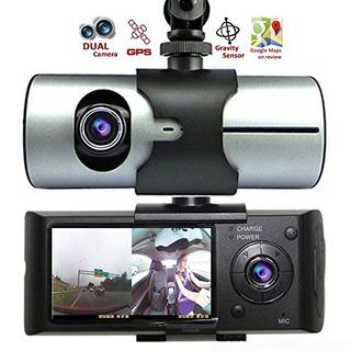 Indigi New Car Dvr Dual Camera Lens W Gps Tracker Drivin