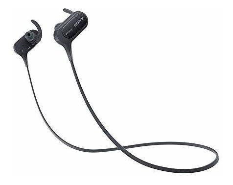 Imagen 1 de 3 de Auriculares Deportivos Con Bluetooth Color Negro De Sony