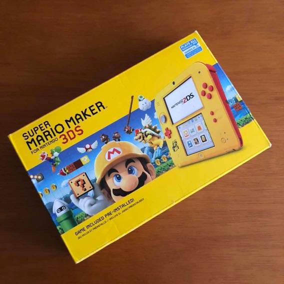 Nintendo 2ds Edição Especial Super Mario Maker Serial Bate