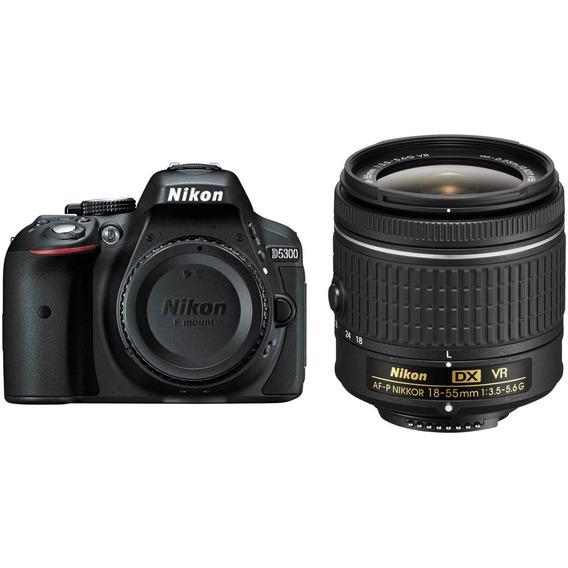 Câmera Nikon D5300 Com Lente Af-p 18-55mm Vr - Loja Platinum