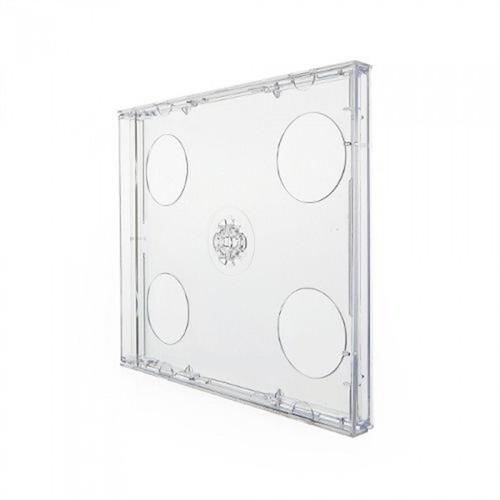 10 Box Caixa Estojo Para Cd Duplo 2 Acrilico