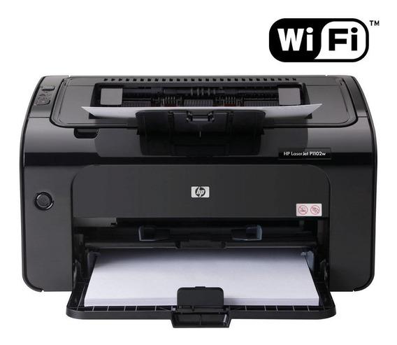 Impressora Hp Laserjet P1102w Wireless - Wifi 110v Com Toner