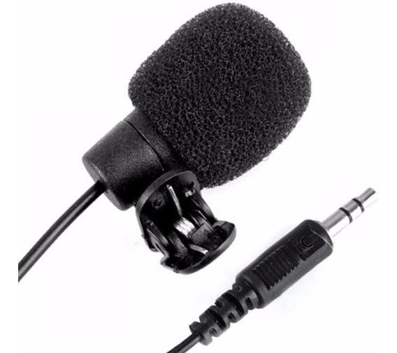 Microfone De Lapela 3,5mm P2 Stereo Youtuber Palestrantes