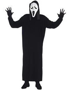 Fantasia Pânico Infantil Halloween Terror C/ Máscara