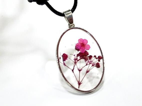 Colar Orgonite Flores Naturais Em Resina Lindos E Delicados!