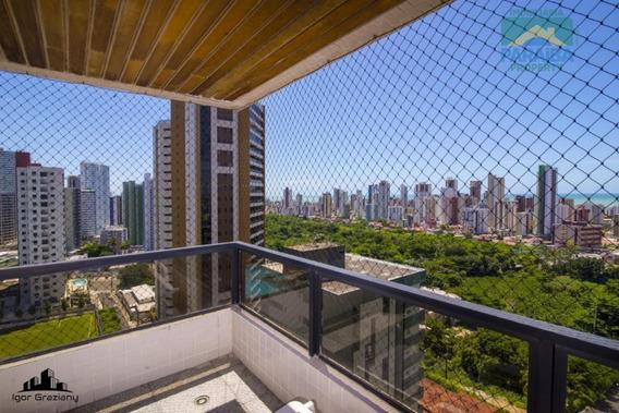 Apartamento Vista Definitiva Para O Mar Para Venda Ou Locação - Miramar - João Pessoa - Pb - Ap1251