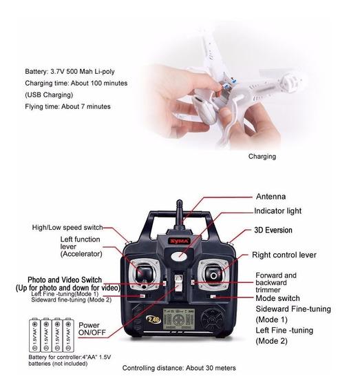 Drone Quadricóptero X5c Com Câmera Rtf 2.4 Gh