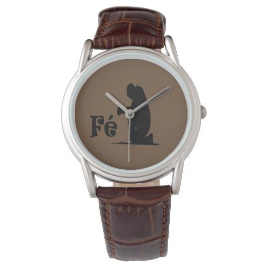 Relógio Clássico Importado Fé