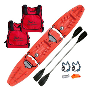 Kayak Desarmable Oahu Doble By Emp Nautica Combo Completo