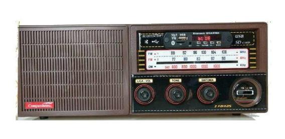Radio Madeira Vintage Retrô 3 Faixa Entra Usb Pendrive Crc33