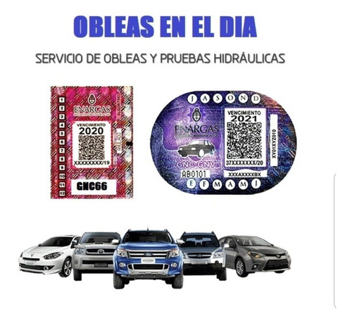 Imagen 1 de 1 de Oblea De Gnc Online