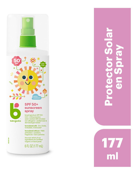 Babyganics Protector Solar En Spray, 177ml