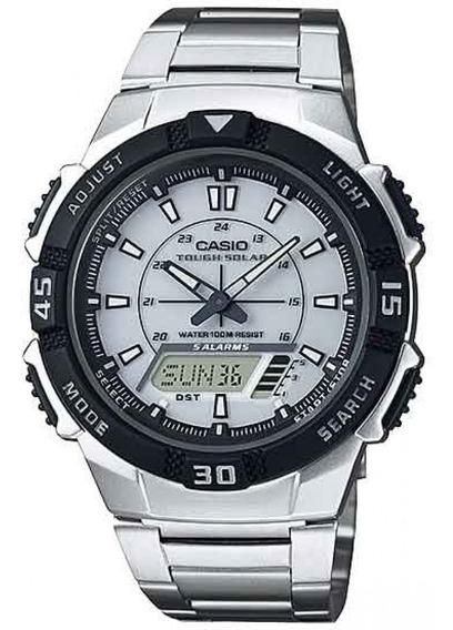 Relógio Casio Digital Masculino Solar Aq-s800wd Original Nf