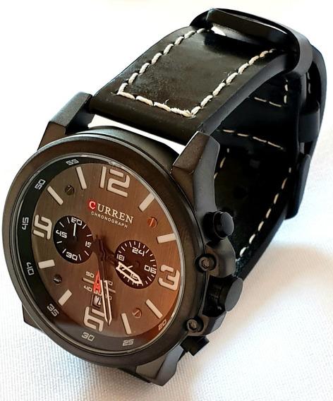 Relógio Masculino Curren Luxo Quartzo Ultima Peça
