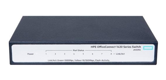 Switch Gigabit Hp 1420 8 Portas 10/100/1000 Jh329a 3 Com