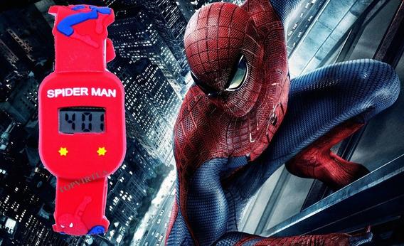 Relógio Homem Aranha Quadrado Digital Red Prova D