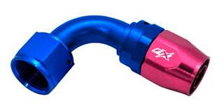 Acople Conexión 90° An8 Azul Rojo Ftx Fueltech