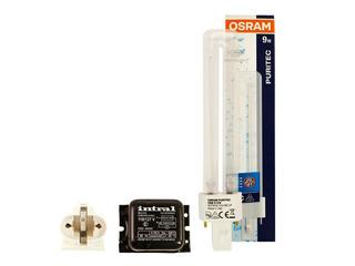Kit 9w Uvc Lampada Pl Osram 2pinos + Reator 110v.+ Soquete