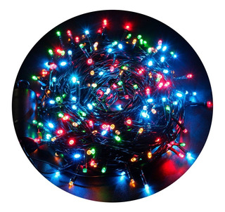 Luces Navidad 100 Bombillos 7m Instalación Extensi Luz Led