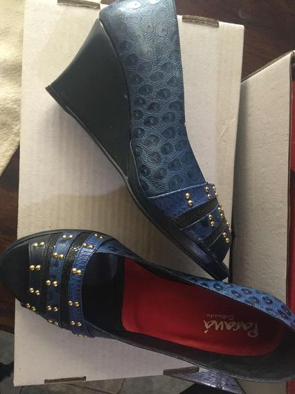 Zapatos Suecos Dama Talle 35/36 Cuero