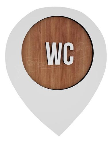 Imagem 1 de 3 de Plaquinha Banheiro Wc Unissex Shopping Restaurante Hotel