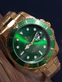 Relógio Masculino 40mm Todo Em Aço Pronta Entrega