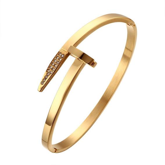 Bracelete Luxo Banhado A Ouro