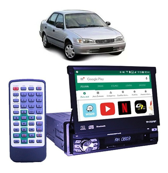 Dvd Retrátil 7 Pol Toyota Corolla G1 Gps Wifi Bluetooth Usb