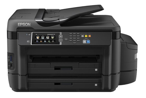 Imagen 1 de 2 de Impresora a color multifunción Epson EcoTank L1455 con wifi negra 100V/240V
