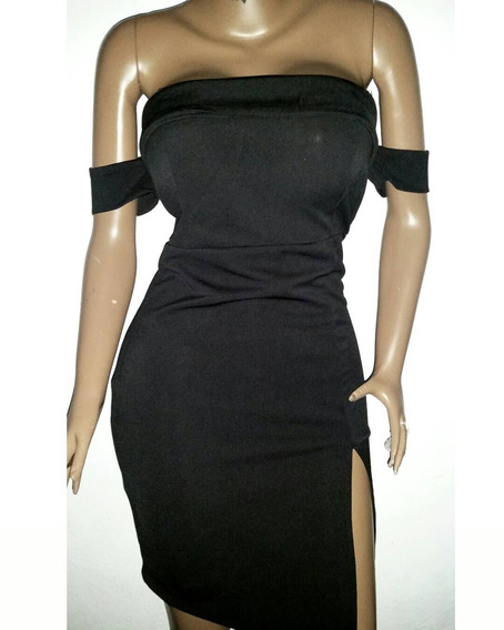 Vestido Negro Corto Tipo Coctel