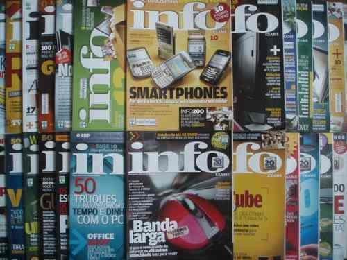 Coleção Revistas Info - 42 Edições (entre 2005 Até 2009)