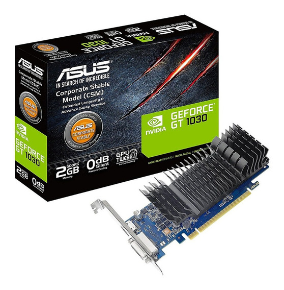 Placa De Video Asus Gt 1030 2gb Gddr5 Hdmi Dvi Geforce Gamer