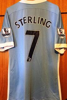 Camisa Do Manchester City 2015/16 Sterling #7 Versão Jogador