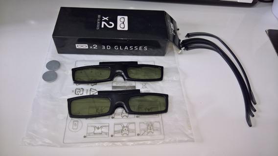 Kit 2 Óculos Originais 3d Ssg-5100gb Ativo Para Tv Samsung