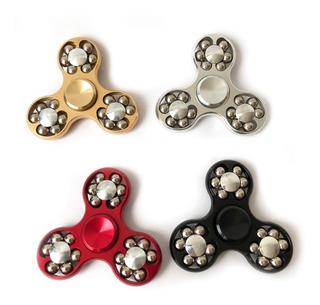 Fidget Spinner Antiestres Aluminio Metal Engranes Y Balines