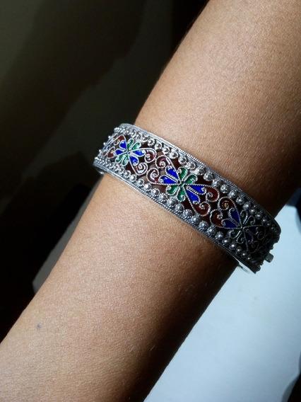Pulseira Bracelete Feminino De Prata 925