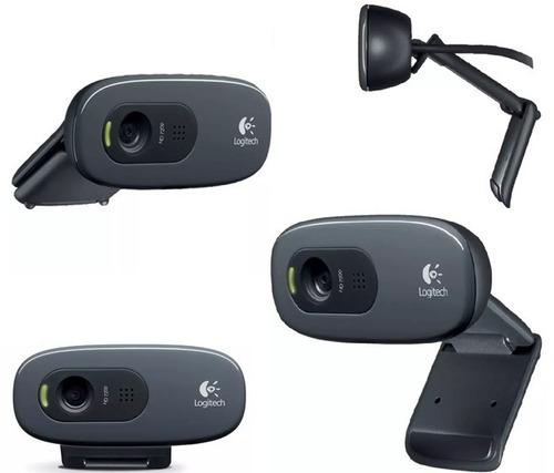 Webcam Logitech C270 Hd 720p Para Mac Os, Windows E Linux