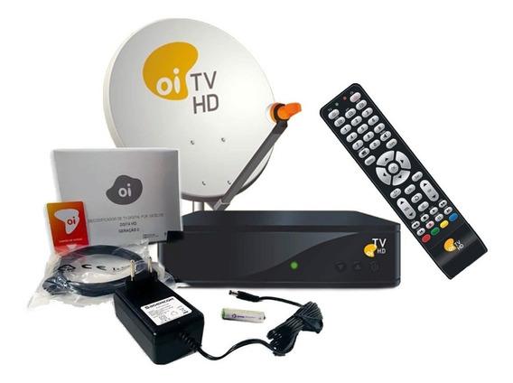 Oi Tv Dsi74 + Controle + Receptor Full Hd Kit Completo