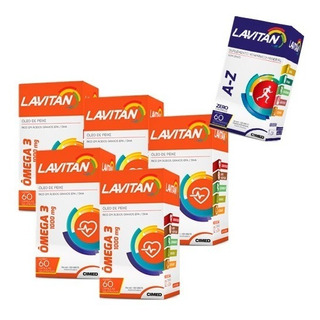 Ômega 3 Lavitan - 5x 60 Cápsulas + Lavitan A-z - Cimed