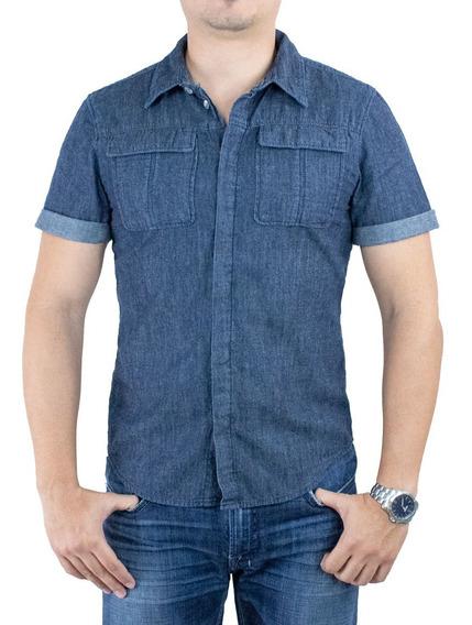 Camisa Innermotion De Mezclilla Para Caballero. Estilo 3275