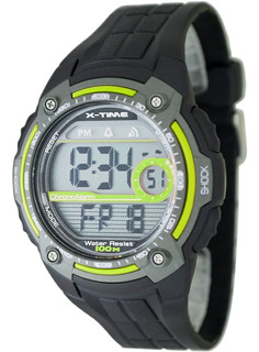 Reloj X-time Hombre Deportivo Sumergible 100m 003 Verde Lima
