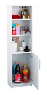 Despensero Organizador Cocina 150x40x30 Cm 1 Puerta Blanco