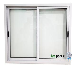 Ventanas De Aluminio 150x110 Vidrio Entero 4mm Blanco