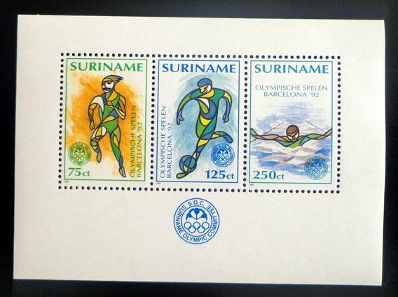 Surinam Deportes, Bloque Sc. 924 Olimpíadas 1992 Mint L8755
