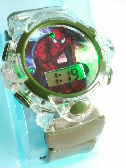 Relógio Infantil Super Herois Homem Aranha Barato Oferta