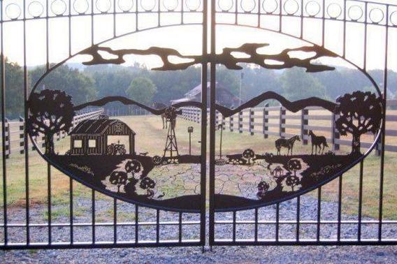 Cercas Portones Puertas Para Ranchos Decoración En Metal