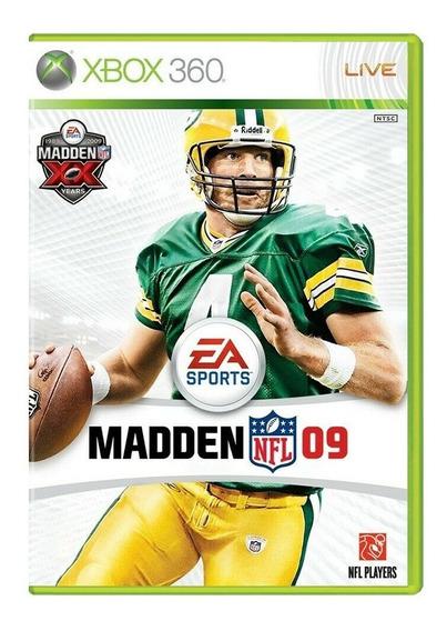 Madden Nfl 09 - Xbox 360 - Usado - Original - Mídia Física