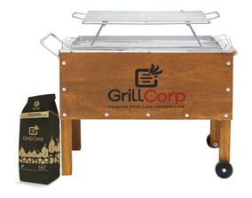 Grillcorp - Combo Caja China Med + Par Varilla + Briquetas