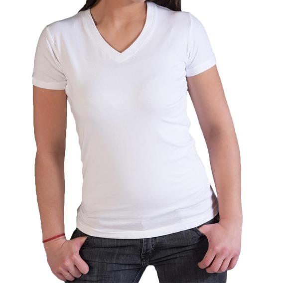 Camiseta Dama Para Sublimación Poliester 100% Tacto Algodón