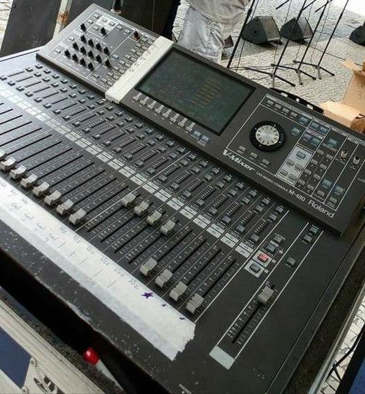Mesa Roland Digital V-mixing 480 Com Um Digital Snake Inclus